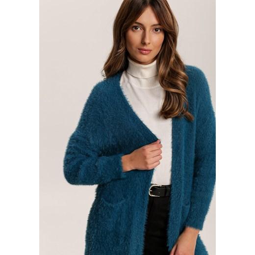 Sweter damski Renee z dekoltem w serek Odzież Damska TP niebieski XMAB