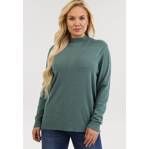 Sweter damski Born2be Odzież Damska EY zielony ABVL