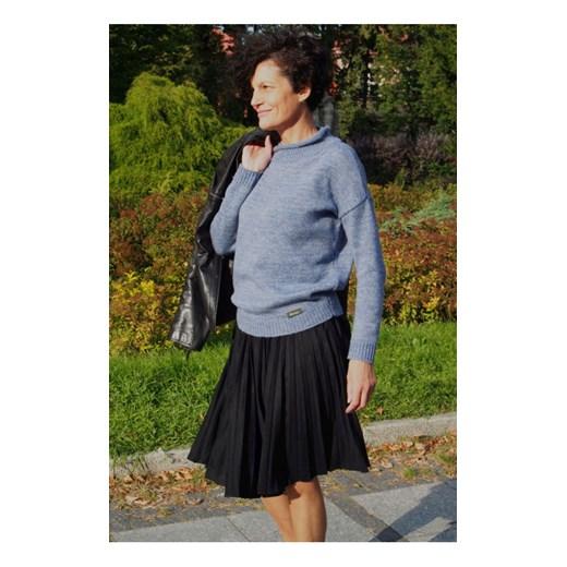 Sweter damski z plisą Pati, jeans butik-choice Odzież Damska MH ENXK