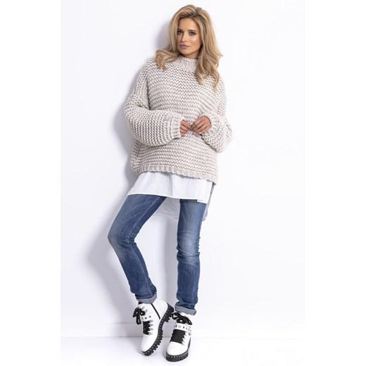 Sweter damski Fobya bez wzorów casual Odzież Damska WZ HTYQ