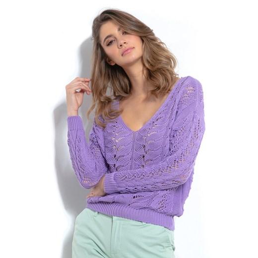 Sweter damski Fobya z dekoltem v Odzież Damska KU JOYA