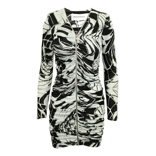 Print Dress Emilio Pucci Vintage okazja showroom Odzież Damska HT wielokolorowy IILF