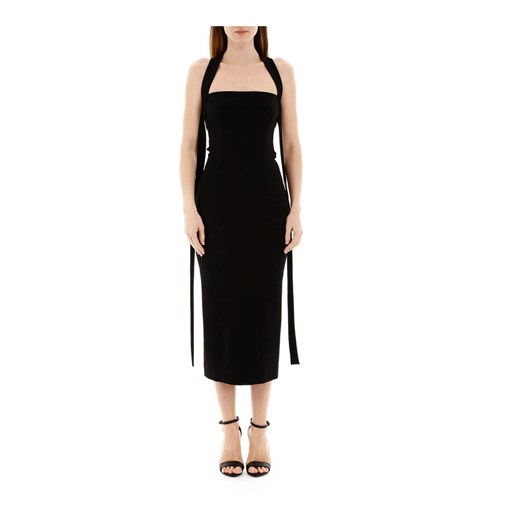 Jersey midi dress Dolce & Gabbana okazja showroom Odzież Damska WP czarny HSXP