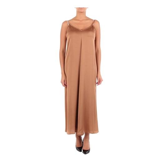 CFABI07TPO0148 Long dress Rame okazyjna cena showroom Odzież Damska ZA brązowy YVNT