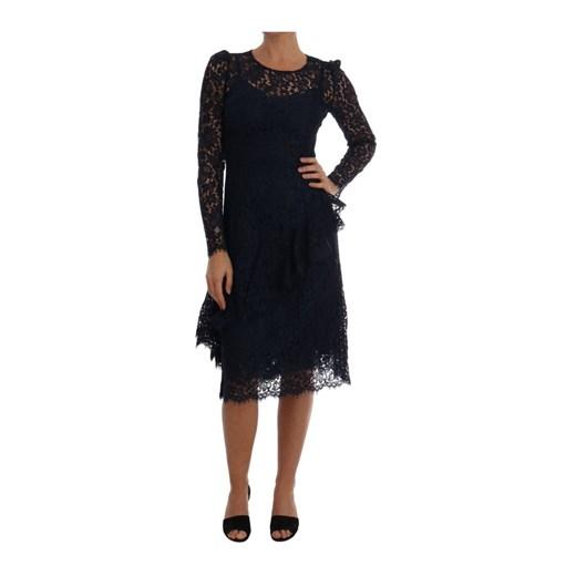 Lace Sheath Dress Dolce & Gabbana showroom okazyjna cena Odzież Damska TT czarny NAZL