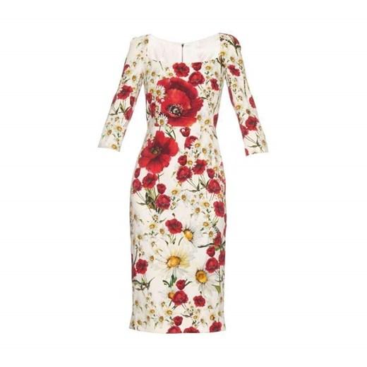 Dress Dolce & Gabbana wyprzedaż showroom Odzież Damska ZT beżowy FGWV