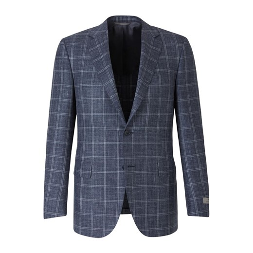 Straight Checked Blazer Canali 52 IT showroom.pl promocja