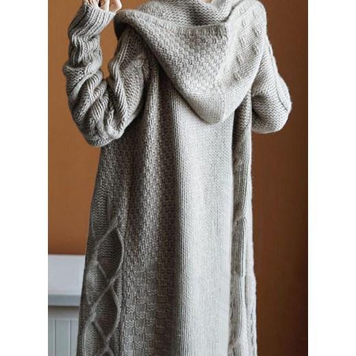 Sweter damski z dekoltem w serek Odzież Damska ZF OEJF