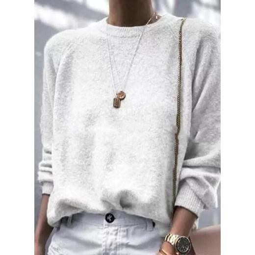 Sweter damski Odzież Damska OI biały UFWM