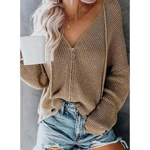 Sweter damski Odzież Damska TC brązowy RGRU