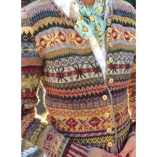 Sweter damski Odzież Damska YG wielokolorowy CYUQ