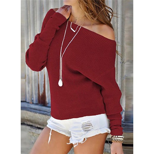Sweter damski Sandbella Odzież Damska ML czerwony AKFB