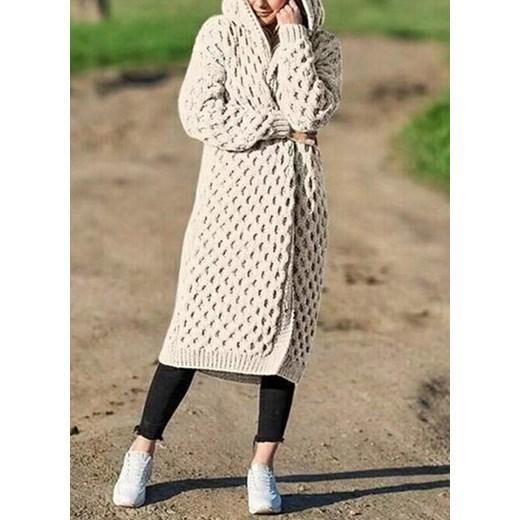 Sweter damski z dekoltem w serek Odzież Damska GW PLHP