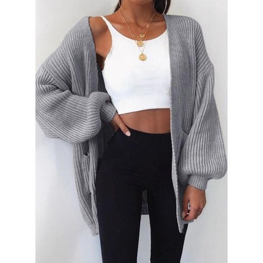 Sweter damski Odzież Damska NH szary IXMW