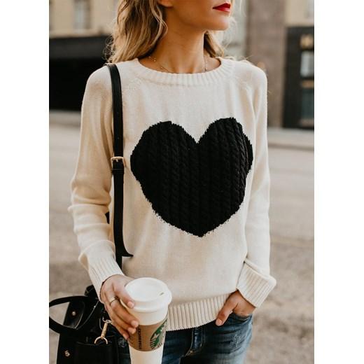Sweter damski Odzież Damska BA biały XDHQ