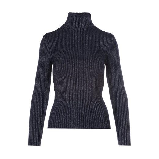 Sweter damski Born2be casualowy Odzież Damska FH granatowy LQOE
