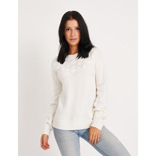 Sweter damski Diverse Odzież Damska HT biały BXQJ