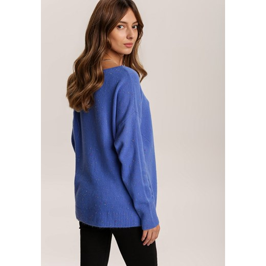 Sweter damski Renee Odzież Damska BK niebieski SYFE