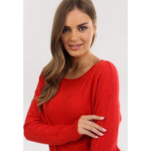 Sweter damski Born2be Odzież Damska JP czerwony WCPJ