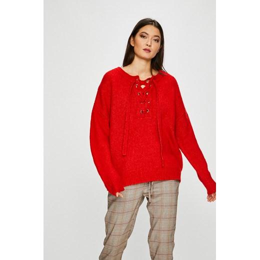 Sweter damski czerwony z domieszką wełny Medicine okazyjna cena wearmedicine Odzież Damska VW czerwony MSVV