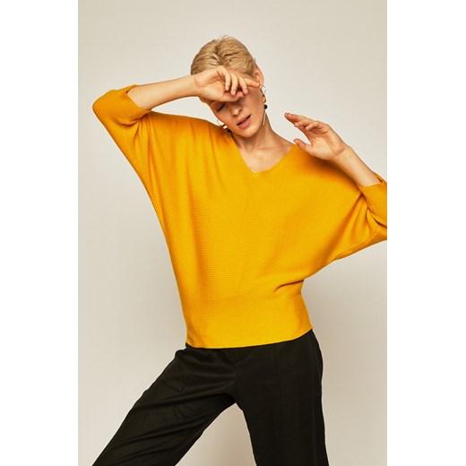 Sweter damski z odkrytymi plecami żółty Medicine okazja wearmedicine Odzież Damska XK żółty TWYG
