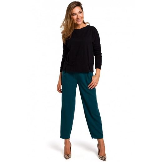 Sweter damski Style z okrągłym dekoltem Odzież Damska IR czarny ASLG