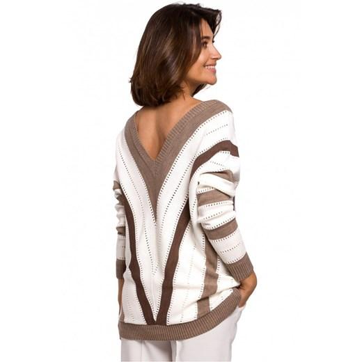 Sweter damski Style Odzież Damska UL brązowy UVIA