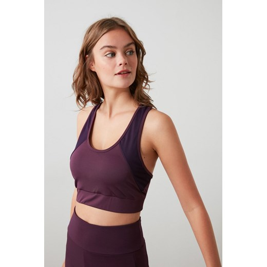 Trendyol Purple Tulle Detailed and Supported Sports Bra Trendyol S Factcool