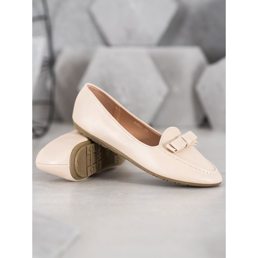 SHELOVET BEIGE LORDSY WITH ECO LEATHER Shelovet 37 Factcool