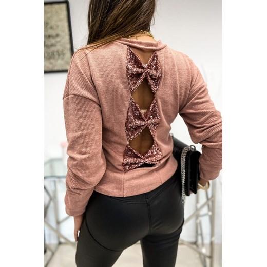 Sweter damski Limonka Odzież Damska BB różowy JURN