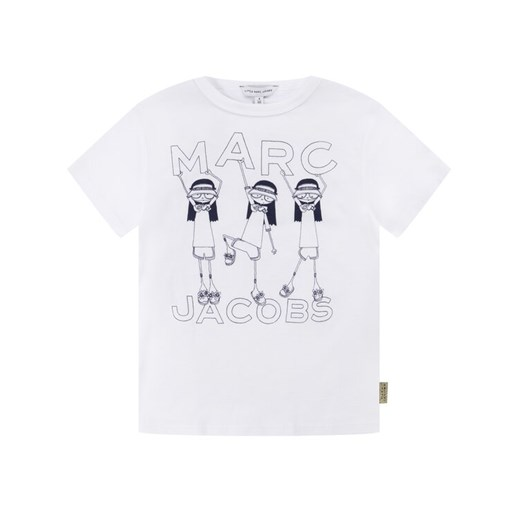 Little Marc Jacobs T-Shirt W15492 M Biały Regular Fit Little Marc Jacobs 4A promocja MODIVO