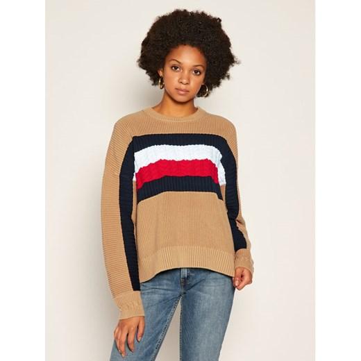 Tommy Hilfiger sweter damski z okrągłym dekoltem Odzież Damska IJ wielokolorowy YRGU