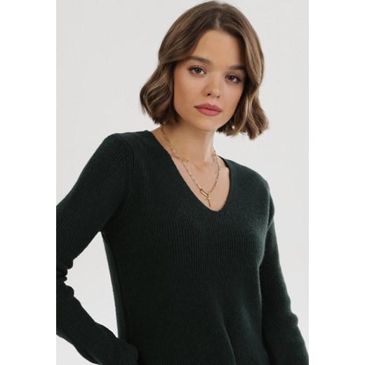 Sweter damski Born2be casual Odzież Damska RM zielony WXDE