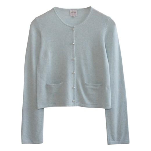 Månestråle sweter damski z okrągłym dekoltem Odzież Damska PK niebieski YVKL