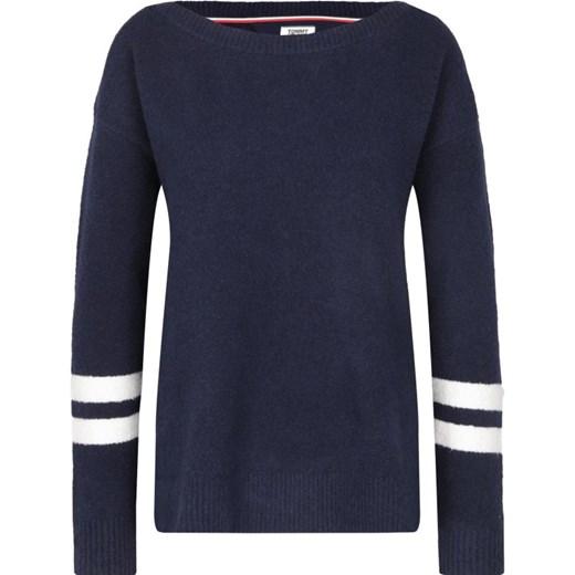 Tommy Jeans Sweter | Loose fit z dodatkiem wełny promocja Gomez Fashion Store Odzież Damska EZ ONOC