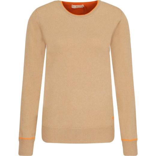 Sweter damski Tory Burch z okrągłym dekoltem kaszmirowy Odzież Damska HS brązowy XDGM
