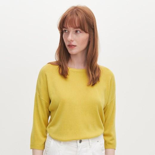Reserved sweter damski z okrągłym dekoltem Odzież Damska EU żółty IGUK