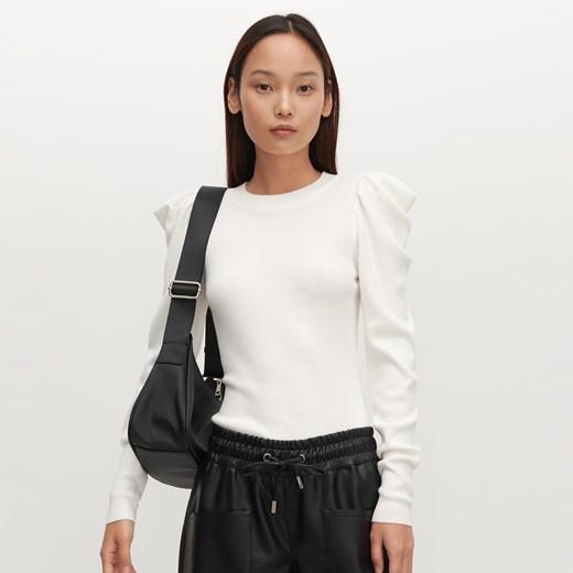 Sweter damski Reserved Odzież Damska LQ beżowy UPPQ