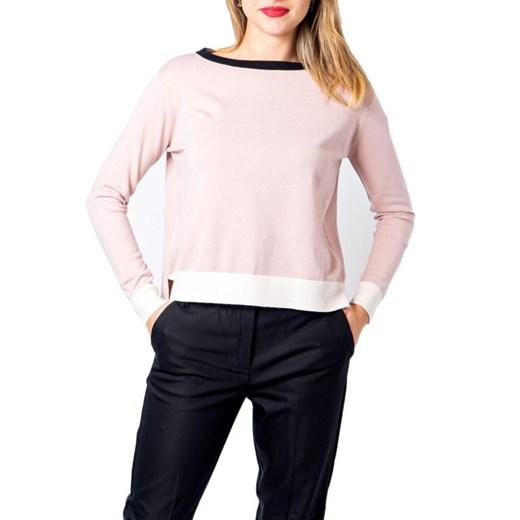 Sweter damski Emme Marella z okrągłym dekoltem Odzież Damska YA różowy GVOD
