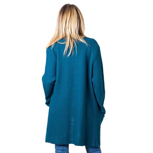 Sweter damski One.0 z dekoltem w serek Odzież Damska UE niebieski MAHO