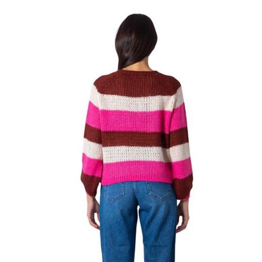 Sweter damski ONLY z okrągłym dekoltem Odzież Damska LR wielokolorowy ZAZI