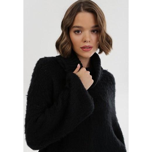 Sweter damski Born2be z wełny Odzież Damska TV czarny YRJV