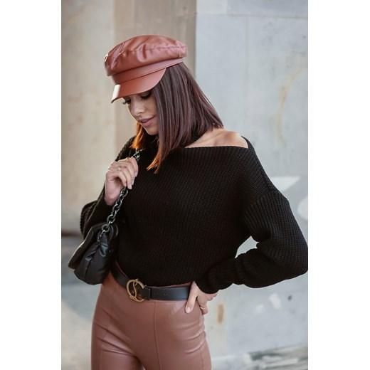 Sweter damski Popatu Odzież Damska FS czarny QJOK