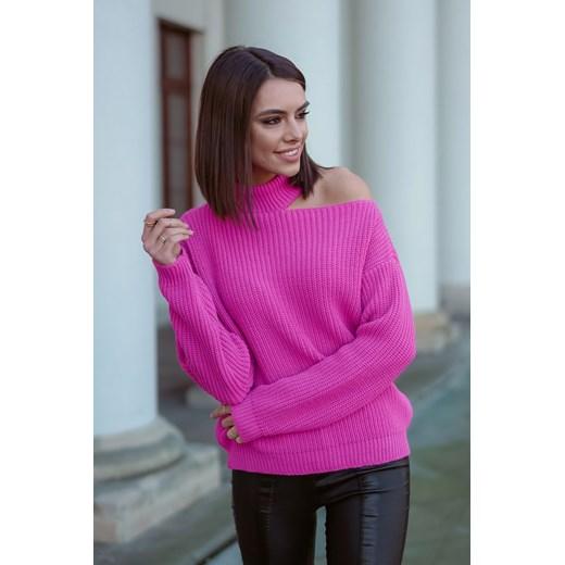 Sweter damski Popatu casualowy Odzież Damska KQ różowy UBPI