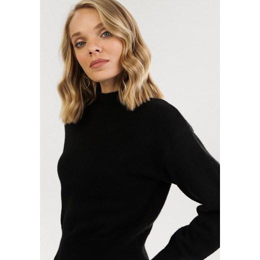 Czarny sweter damski Born2be Odzież Damska EA czarny HZNY