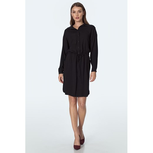 Sukienka Nife z długimi rękawami Odzież Damska RG czarny OSZF