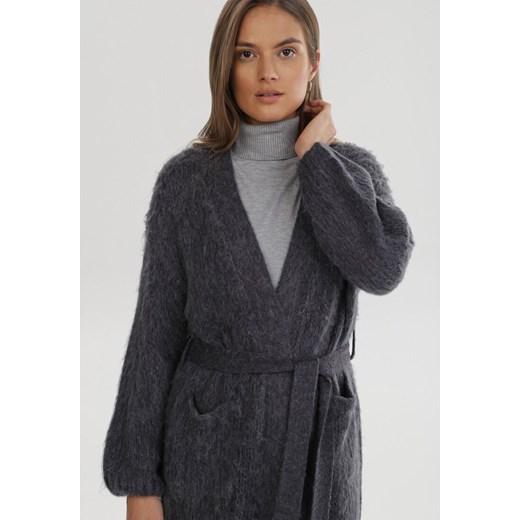Sweter damski Born2be casual Odzież Damska JQ szary REKT