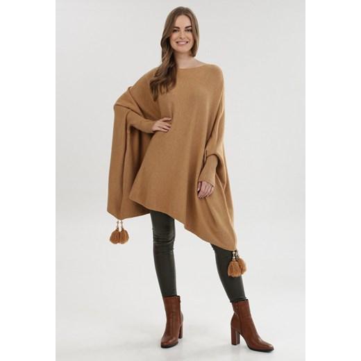 Sweter damski Born2be Odzież Damska SQ beżowy SGBH