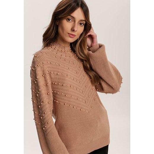 Sweter damski Renee Odzież Damska KD brązowy QCCX