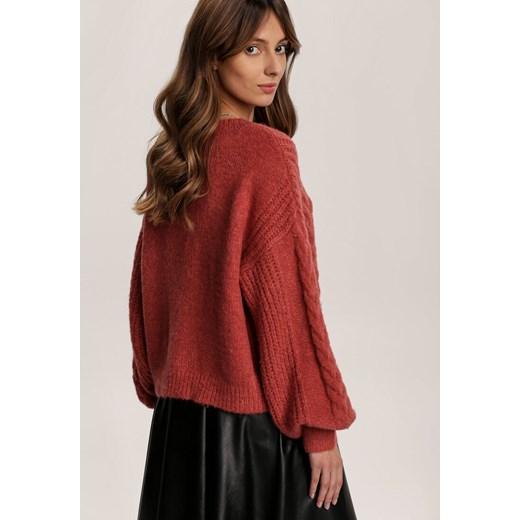 Sweter damski Renee Odzież Damska ZB czerwony XYHG